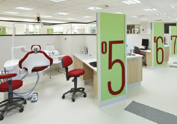 Planmeca dental unit in clinical environment