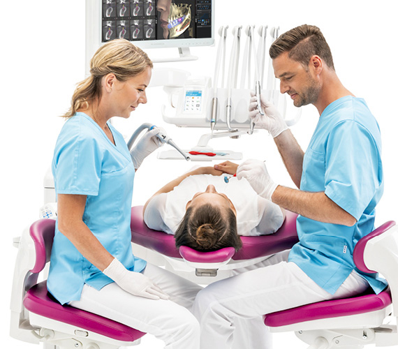 Planmeca dental unit outstanding ergonomics