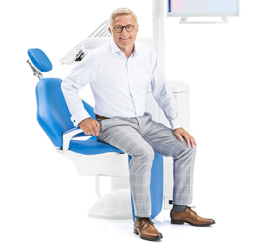 Planmeca Dental unit patient comfort leg rest