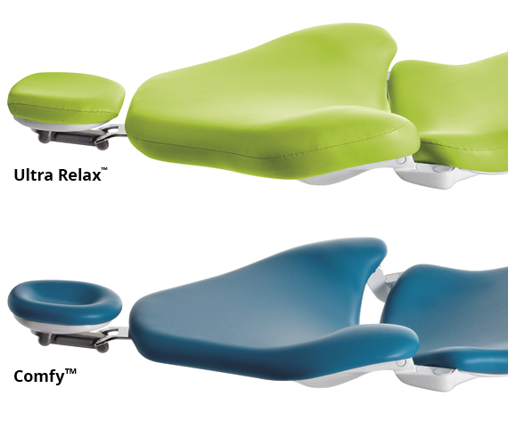Planmeca dental unit high-quality ultra relax and comfy upholsteries