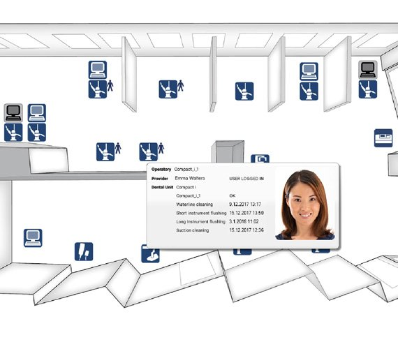 Planmeca clinic management floorplan