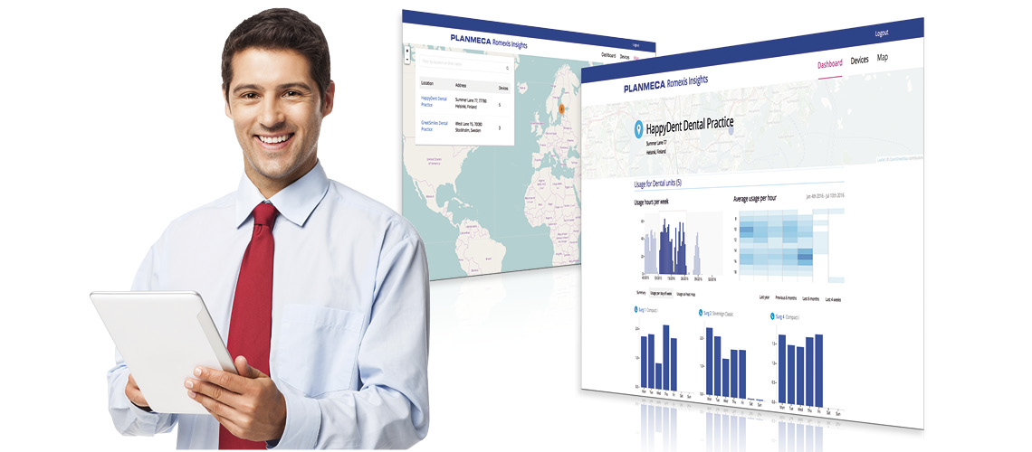 Planmeca Romexis Insights reporting service