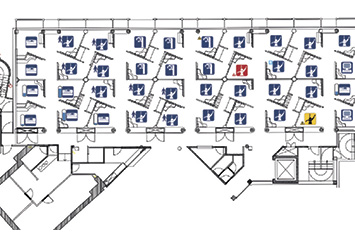 Clinic Management network benefits floor plan