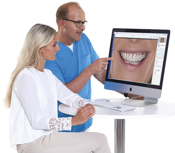 Planmeca Smile Design dentist and patient