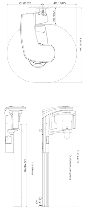 ProOne Drawing of dimensions