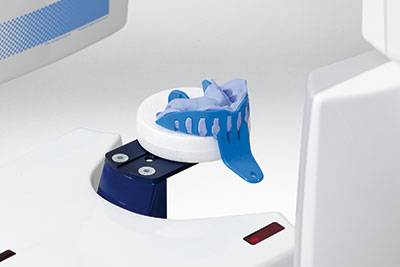 Scanning an impression to a digital model