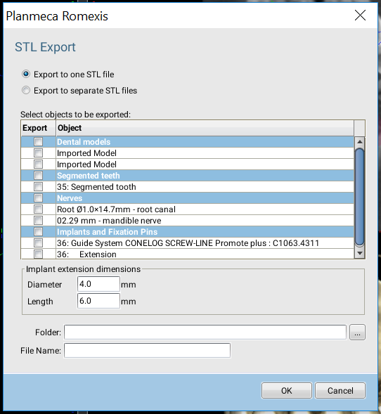 Export to one STL file