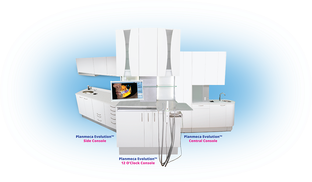 Planmeca Evolution™ dental cabinetry